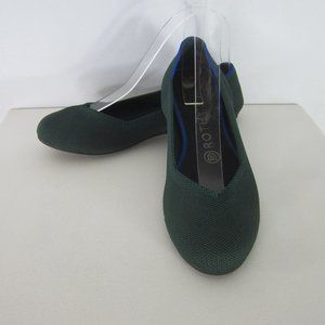 Rothys 7 M Emerald Green The Point Ballet Flats